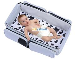 3-in-1 Travel Tote Bassinet Diaper Bag Changing Station Plus