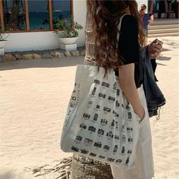 100% Cotton Camera shoes Heavy Duty Large shopping bags Canv