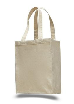 Set of 12- Extra Heavy Duty Canvas Tote Bag with Gusset