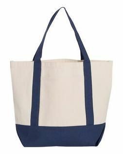 "DALIX 19"" Shopping Tote Bag Cotton Canvas Top Handle Bag, Na"
