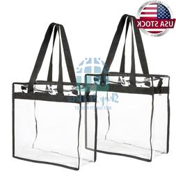 2 pack clear transparent tote bag pvc