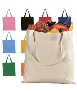 "2 Pack Durable Canvas Tote Bag 15"" x 16"", Plain Totes, 12 oz"