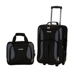 Rockland Luggage 2 Piece Carry on & Tote Bag Set