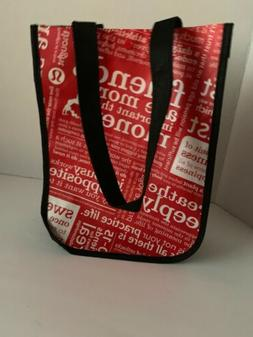 2 Lululemon Tote Bags Reusable Bag Red White Lunch Shop Smal