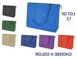 """DALIX 20"""" Extra Large Top Zipper Reuseable Shopping Grocery"""