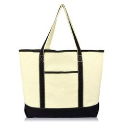"""22"""" Extra Large Open Top Shopping Tote Grocery Bag with Oute"""