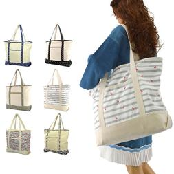"""DALIX 22"""" Shopping Tote Bag in Heavy Cotton Canvas"""