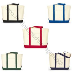 """23"""" Extra Large Heavy Cotton Canvas Boat Tote Bag Beach Shop"""