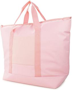 "Dalix 25"" Large Cooler Tote Bag Insulated W/Zipper In Pink"