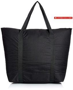 "Dalix 25"" Large Cooler Tote Bag W/Zipper Insulated In Black"