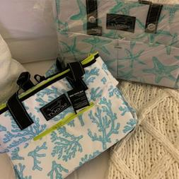 2Pc Scout ~DANCING STARFISH~ UPTOWN GIRL Tote & ~CORAL CAY~