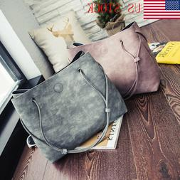 2Pcs/set Women Bags Bucket Bag Crossbody Leather Shoulder Ba