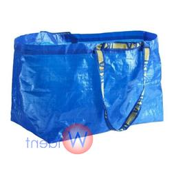 2Pk IKEA FRAKTA Large Blue Reusable 19-Gallon Tote Bag