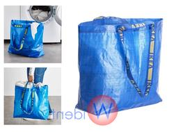 2Pk IKEA FRAKTA Medium Blue Reusable 10-Gallon Tote Bag