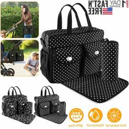 3Pcs/Set Baby Nappie Diaper Changing Bags Large Mummy Bag Tr