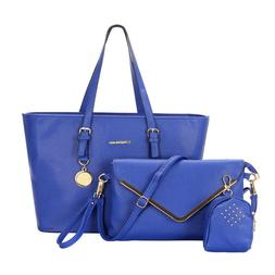 3Pcs/Set Women Leather Handbag Purse Messenger Shoulder Bag