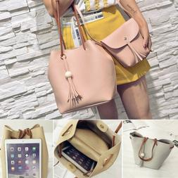 4PCS Elegant Lady Women Leather Handbag Shoulder Hobo Bag Sa