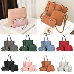 4pcs/Set Women Handbag Lady Shoulder Bags Tote Purse Messeng