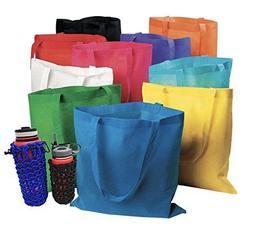 """50 Bulk Tote Bag Mega Pack  13"""" x 15"""" Reusable Shopping"""