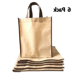 6 Pack Reusable Shopping Bag Recycled Eco Friendly Gift Tote