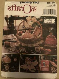 Simplicity 7105 Crafts Pattern Andrea Schewe Sewing Accessor
