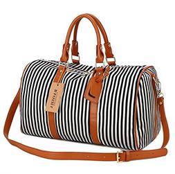 BAOSHA HB-24 Ladies Women Canvas Weekender Bag Travel Duffel