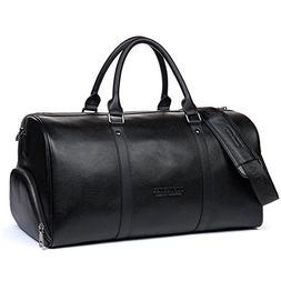 BOSTANTEN Genuine Leather Travel Weekender Overnight Duffel