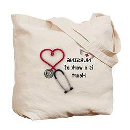CafePress - Nurses Work Of Heart - Natural Canvas Tote Bag,