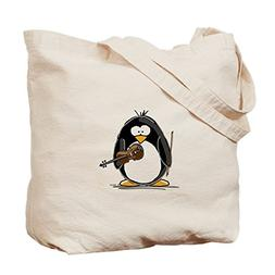 CafePress - Violin Penguin - Natural Canvas Tote Bag, Cloth