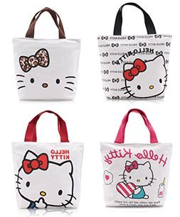de5bf1c63 Finex - Set of 2 - Hello Kitty Canvas Zippered Tote with Top