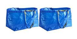 IKEA FRAKTA Carrier Bag, Blue, Large Size Shopping Bag 2 Pcs