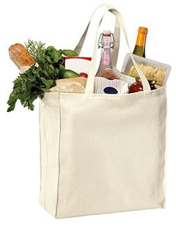 Pack of 6 - Heavy Cotton Twill Over-the-Shoulder Grocery Tot