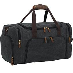 Weekend Duffle Bag Canvas Overnight Bag Travel Duffel with S