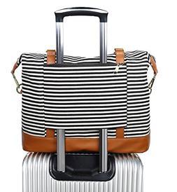 Women Ladies Canvas Weekender Bag Overnight Carry-on Tote Du