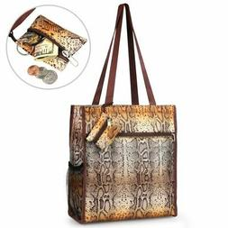 All Purpose Durable Lightweight Tote Bag w/Coin Purse for Sh