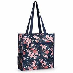 All Purpose Travel Shopping Zipper Tote Bag w/Coin Purse - N