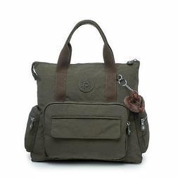 Kipling Alvy2-In-1 Convertible Tote Bag Backpack Jaded Green
