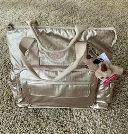 Kipling Alvy2-In-1 Convertible Tote Bag Backpack Metallic Go