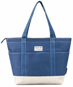 AMY Womens Large Canvas Tote Bag for Work Teachers Nurses w/