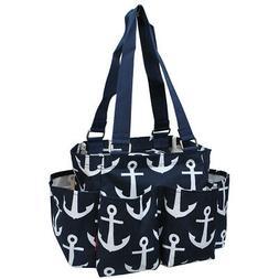 anchor small zippered caddy organizer tote bag