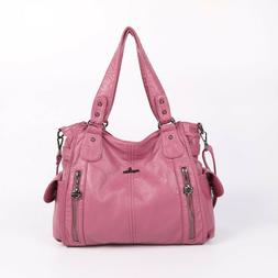 Angelkiss Women's Fashion Tote bag Multiple Pockets Purses H