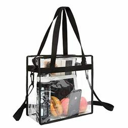 Approved Clear Tote Bag with Zipper Closure Crossbody