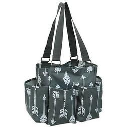Arrow Print NGIL Small Zippered Caddy Organizer Tote Bag Arr