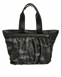 Athelta Caraa Camouflage Black Camo City Tote Gym Yoga Bag L