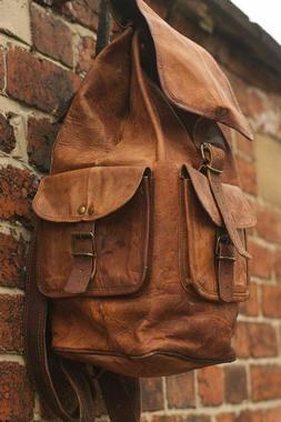 Backpack Soft Flexible Leather Genuine Vintage Bag Women Tra