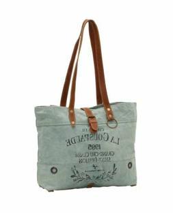 Myra Bag Spanish Up-cycled Canvas Tote Bag Handbag Purse