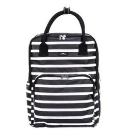 SCOUT Bags The Gogo Backpack Tote, Black/White Stripes, Bran