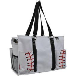 Baseball White NGIL® Large Travel Caddy Organizer Tote Bag