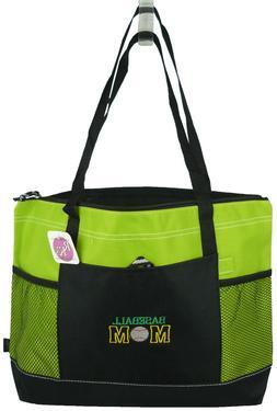 Baseball Mom Gemline Select Zippered Tote Bag Monogram Custo