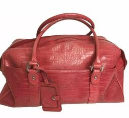 BATH and BODY WORKS Large Tote Bag Faux Leather Croc Travel